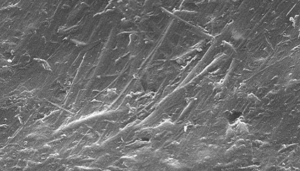 Micrograph of new laminate surface