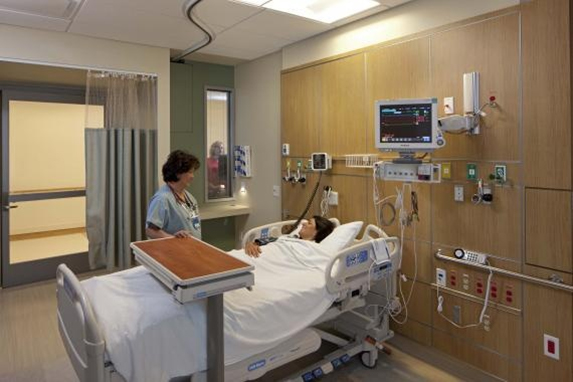Areas of high contamination include busy emergency departments and patient care areas
