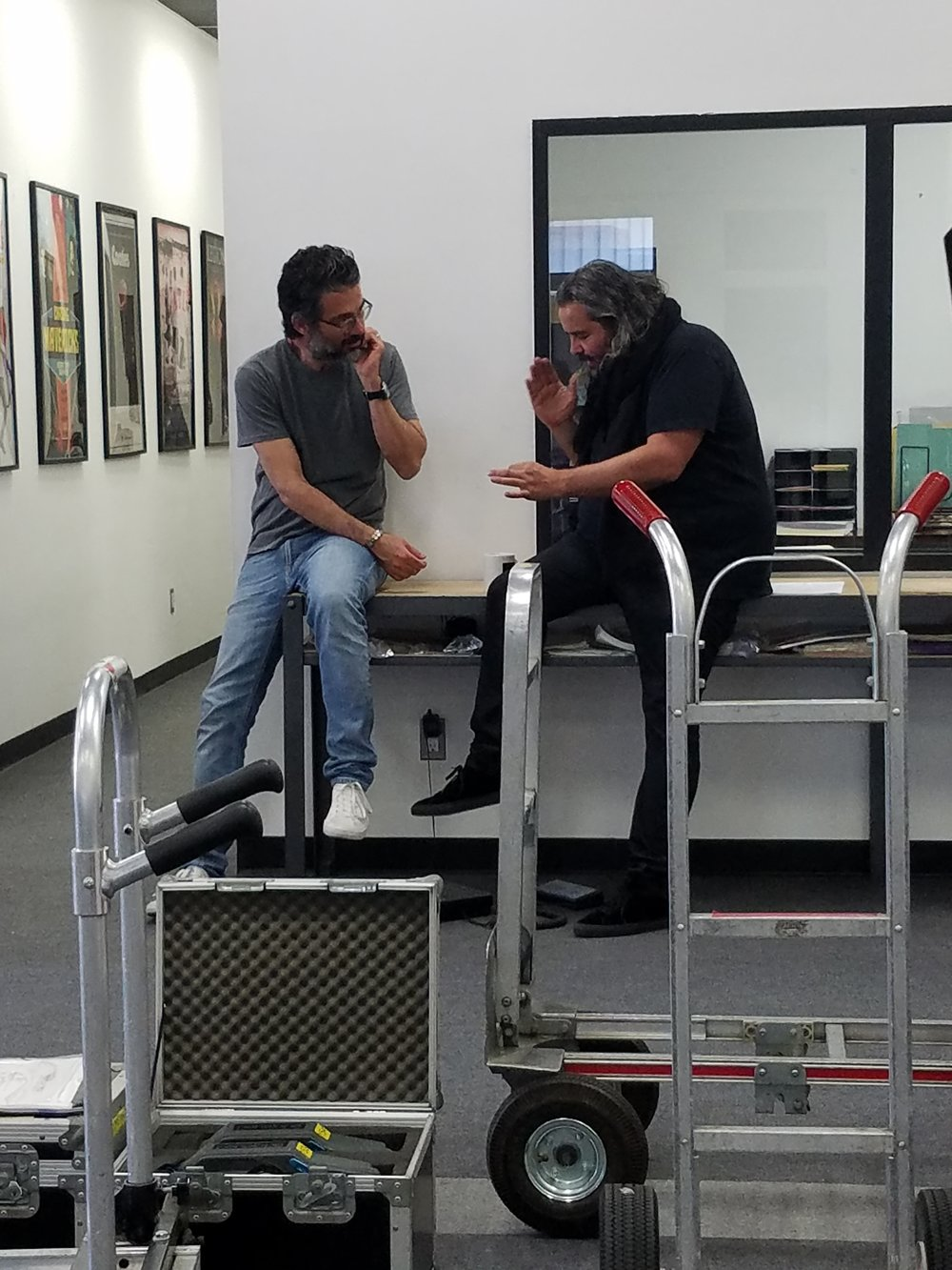 Camtec President Kavon Elhami, and Oscar nominated cinematographer Hoyte Van Hoytema, ASC, FSF, NSC talk shop at Camtec