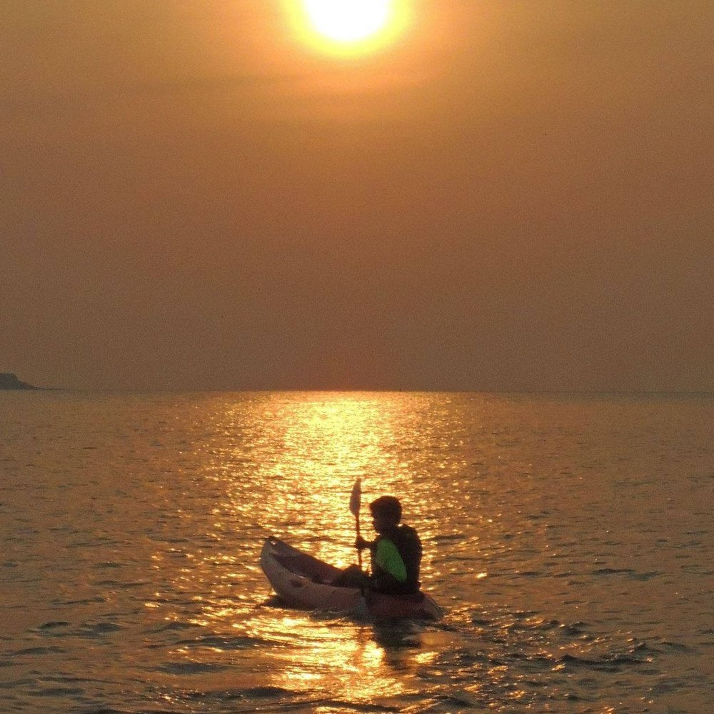 Kayaking at sunset, Murud-Janjira