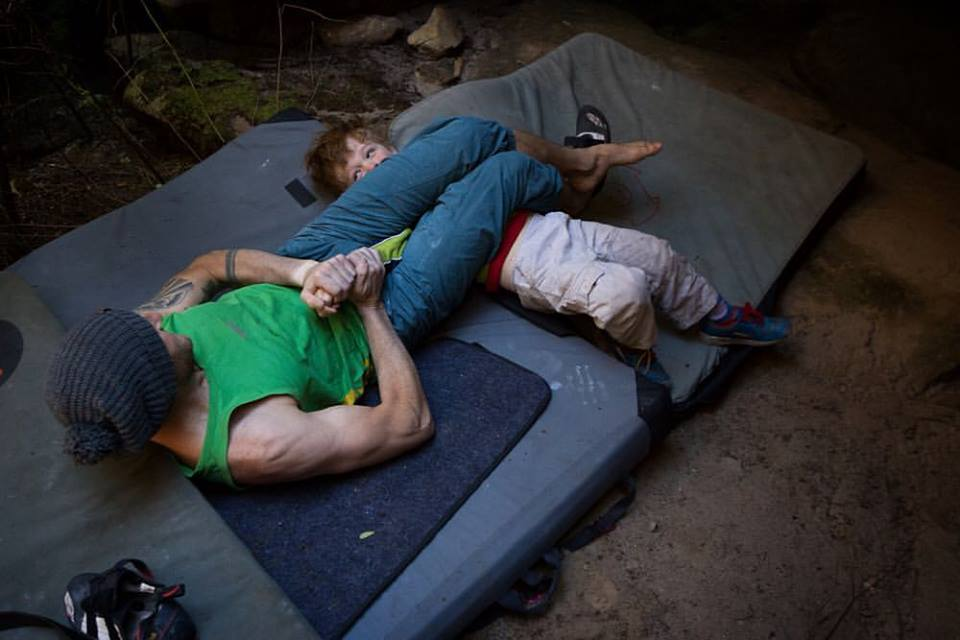 Kids just love bouldering.