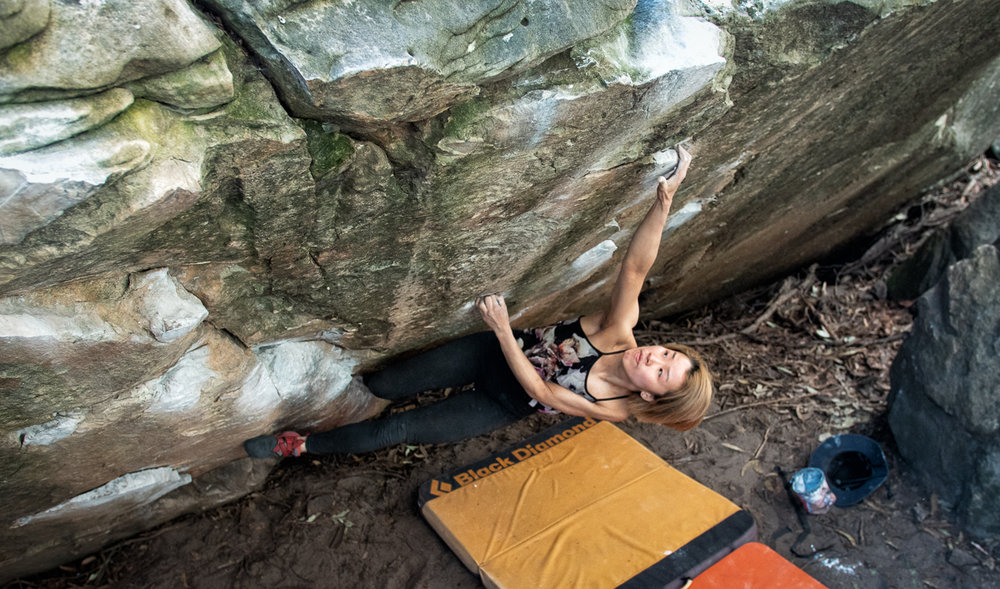 Heidi Xe on This Way Up (V6).  Simon Madden