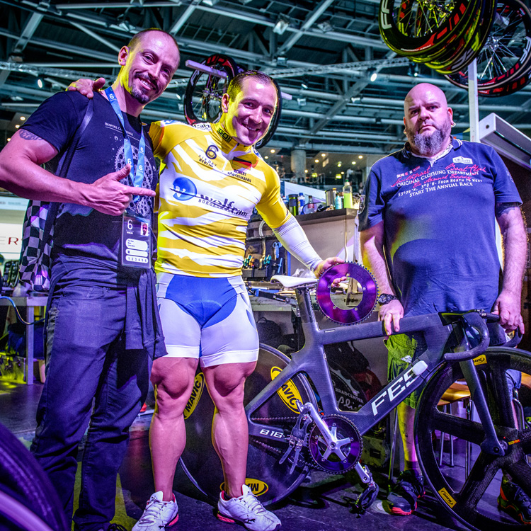 """Quadzilla"" with the monsterous 73cm thighs Robert held the World Record in the Team Sprint in 2013. He is an Olympic, World, European and National Sprint medalist."