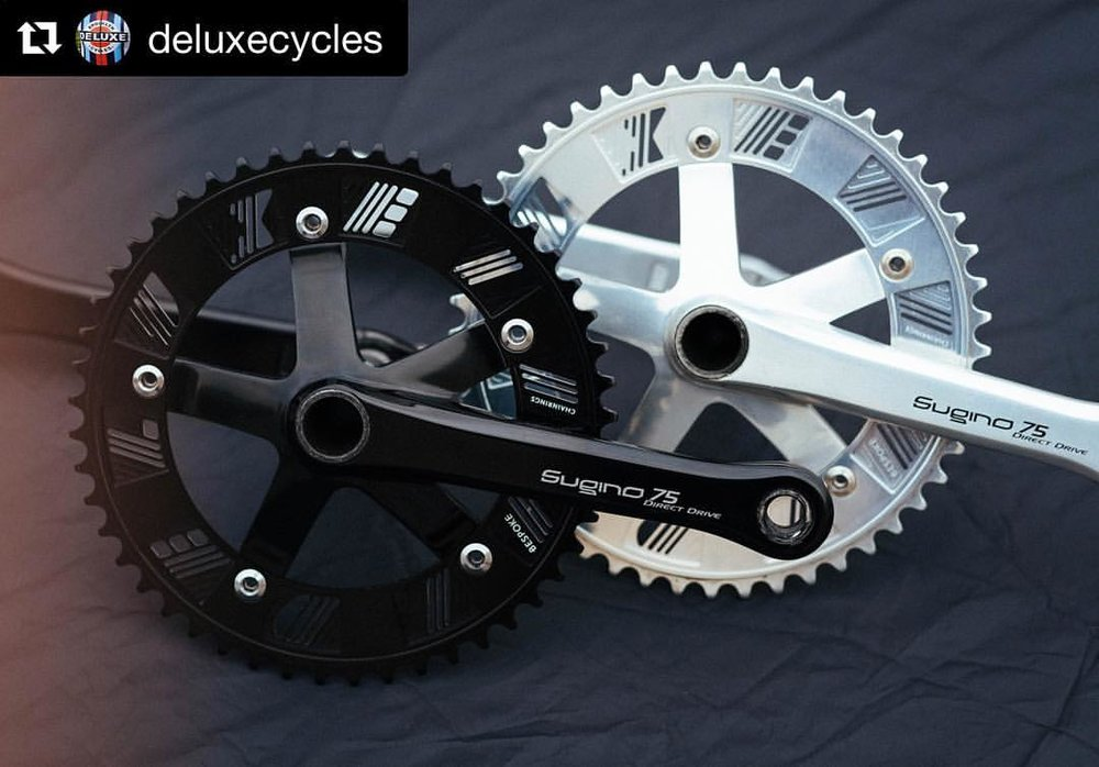 #Repost @deluxecycles  ・・・ Chainrings produced by our friends @bespokechainrings are now live on the web store! 47-53 available for shredding the street, Crit and Velodrome. 6 day tested, World Cup approved, smoother than a Zen (Link to web store in bio)