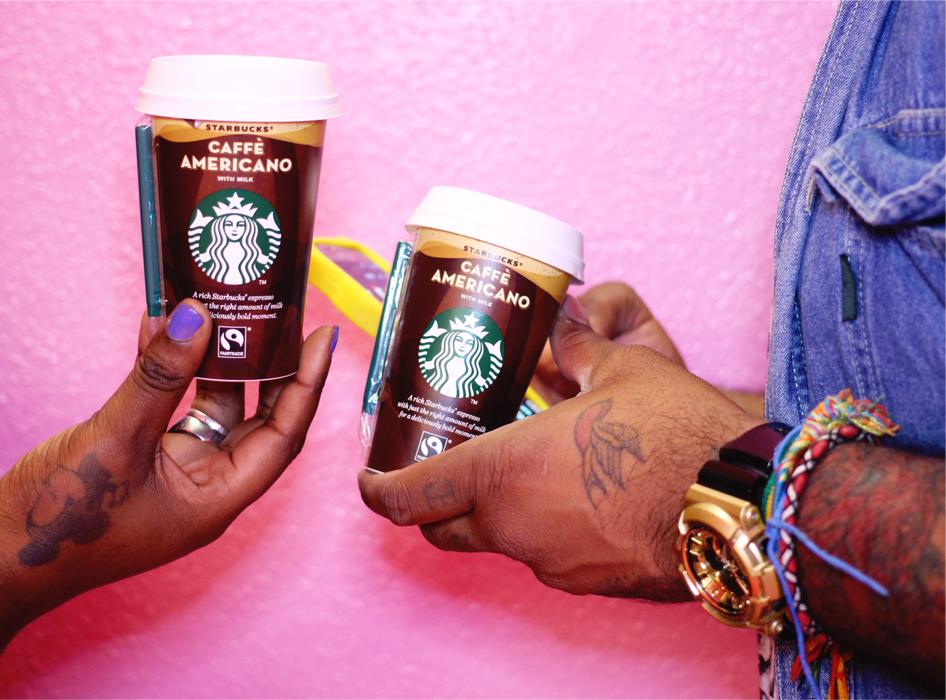 Starbucks Caffe Americano with milk