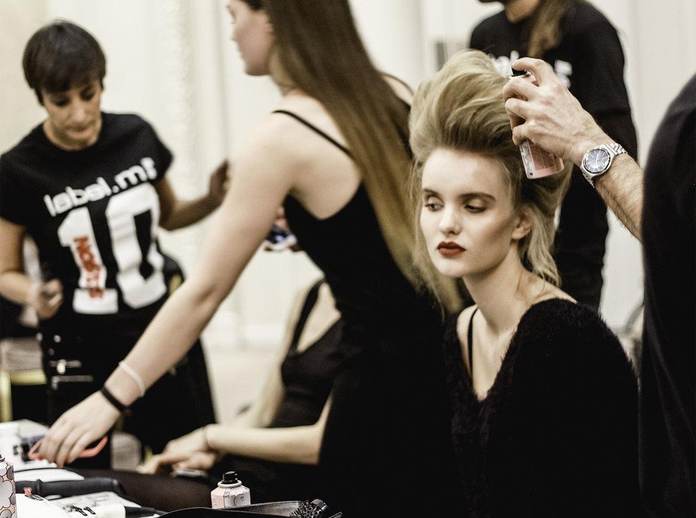 Paul Costelloe AW15 Backstage beauty London Fashion Week 2.jpg