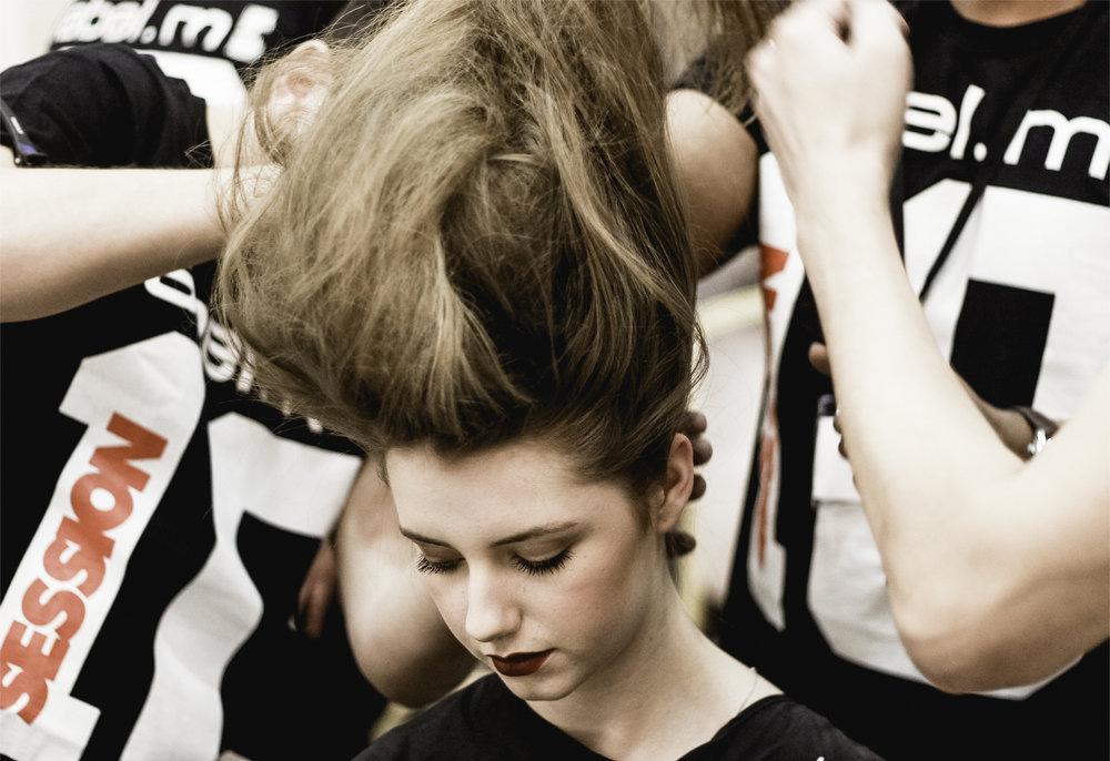 Paul Costelloe AW15 Backstage beauty London Fashion Week.jpg