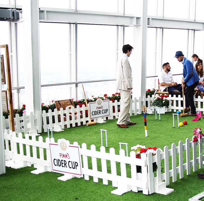 Pimms croquet lawn opens at the view from the shard.jpg