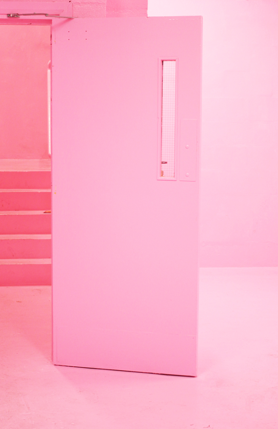 Frank cafe pink staircase