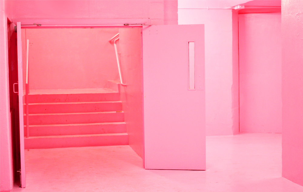 - Closed for the winter, we won't get to see the  Simon Whybray's baby pink stairwell of Frank's Cafe until Summer 2018.  A look back to the design detail that was so instagram worthy that arguably sparked more public space art like it around London.