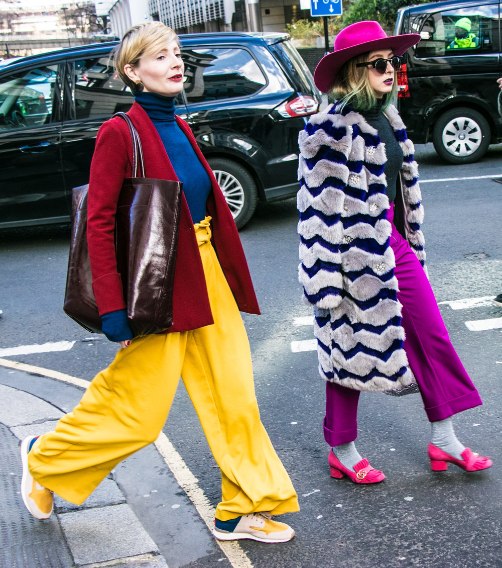 London Fashion Week aw18 street style