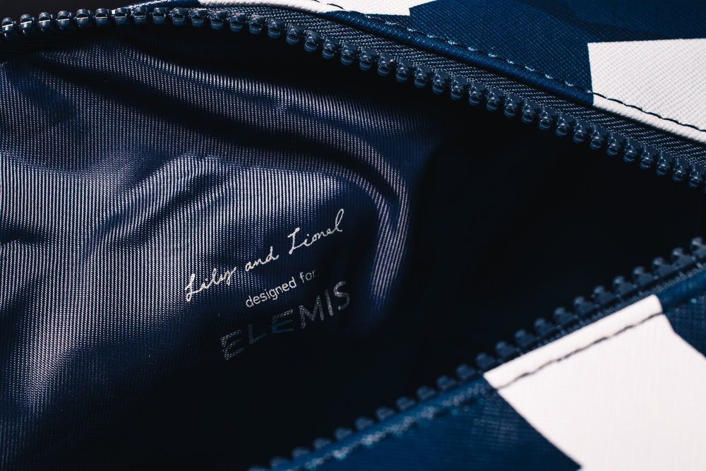 Elemis Luxury travel set designed by Lily and Lionel