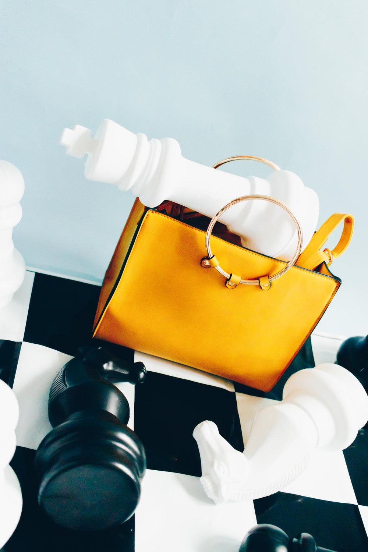 Matalan ring handle square tote bag