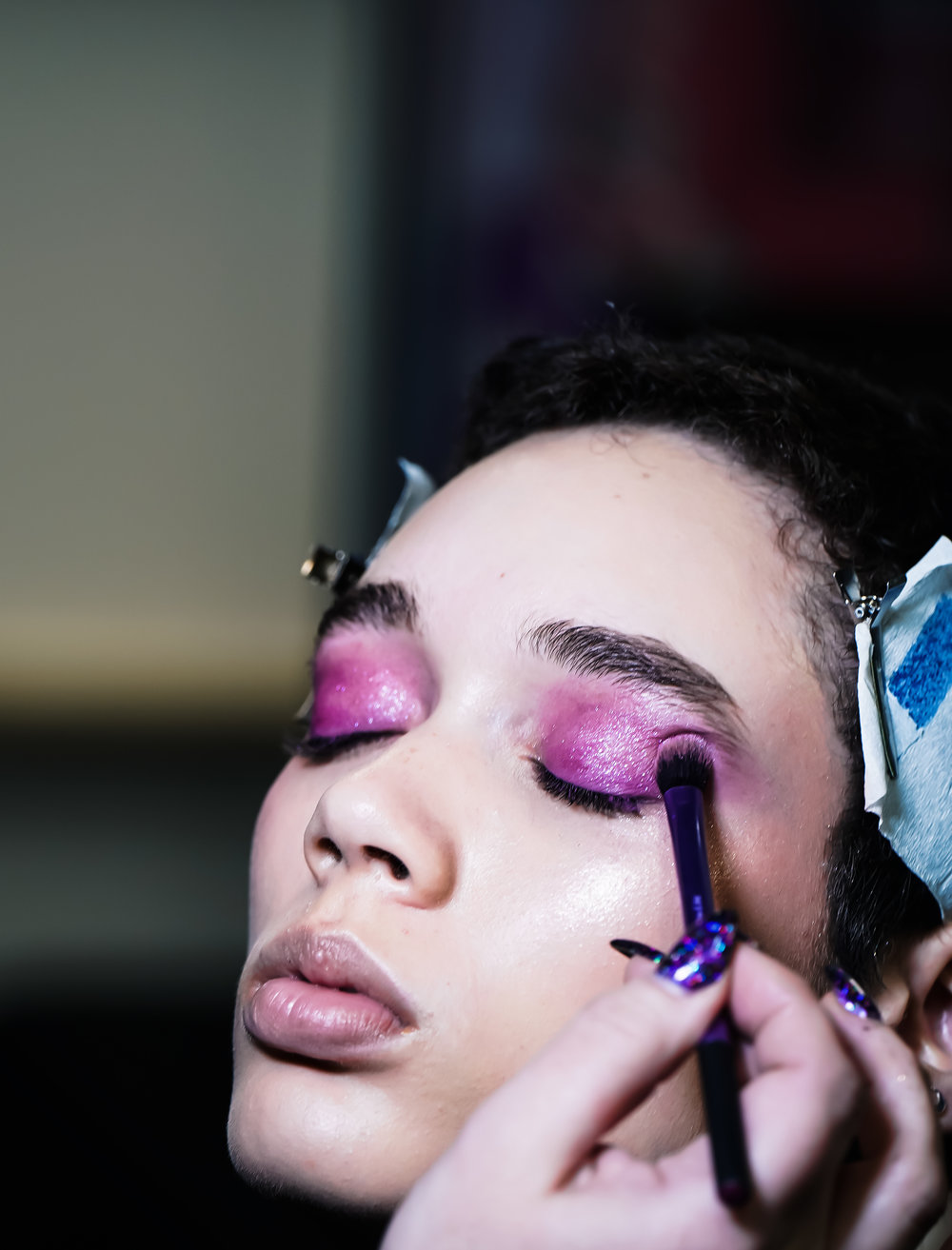 Backstage beauty for Paula Knorr AW19 at London Fashion Week -Adorngirl Photography