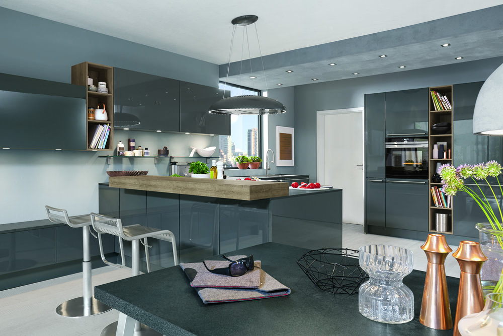 LUX Lacquer, slate grey high gloss
