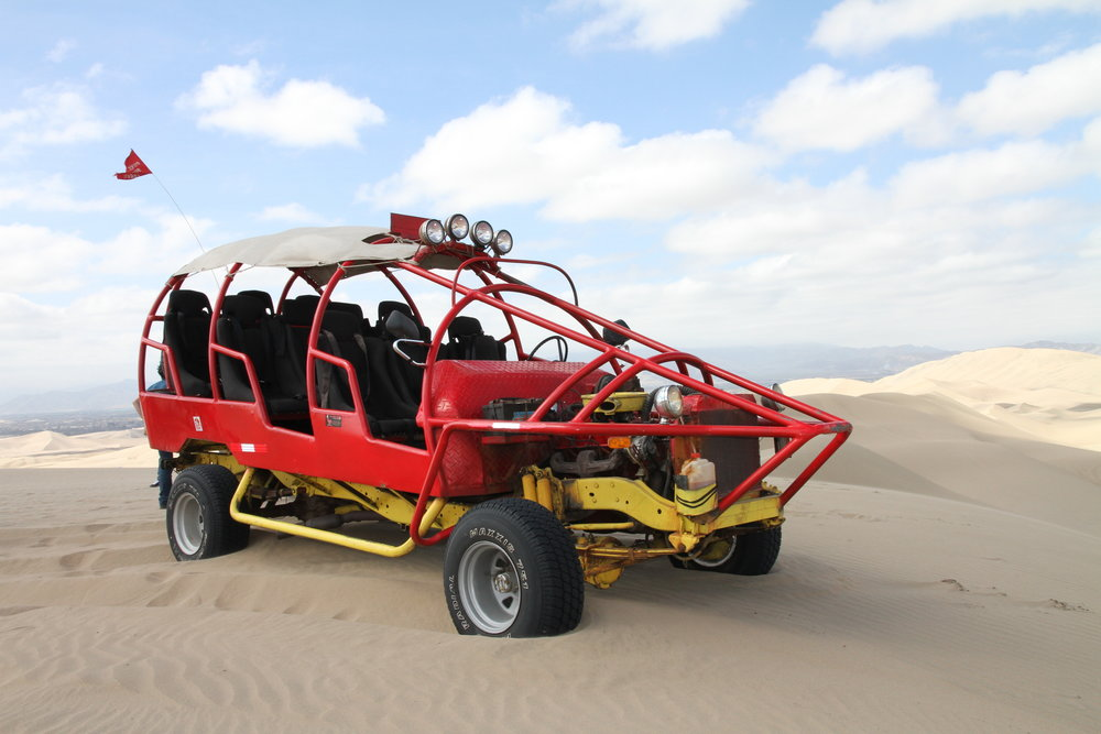 OUT ON THE DUNES - This incredible extension trip gives you the opportunity to go dune-buggying and sand-boarding on Peru's awesome sand dunes.With the dunes at Huacachina reaching several hundred feet high, this is not an activity for the faint-hearted!5 days/4 nightsReg. fee: £95Balance payment: £375