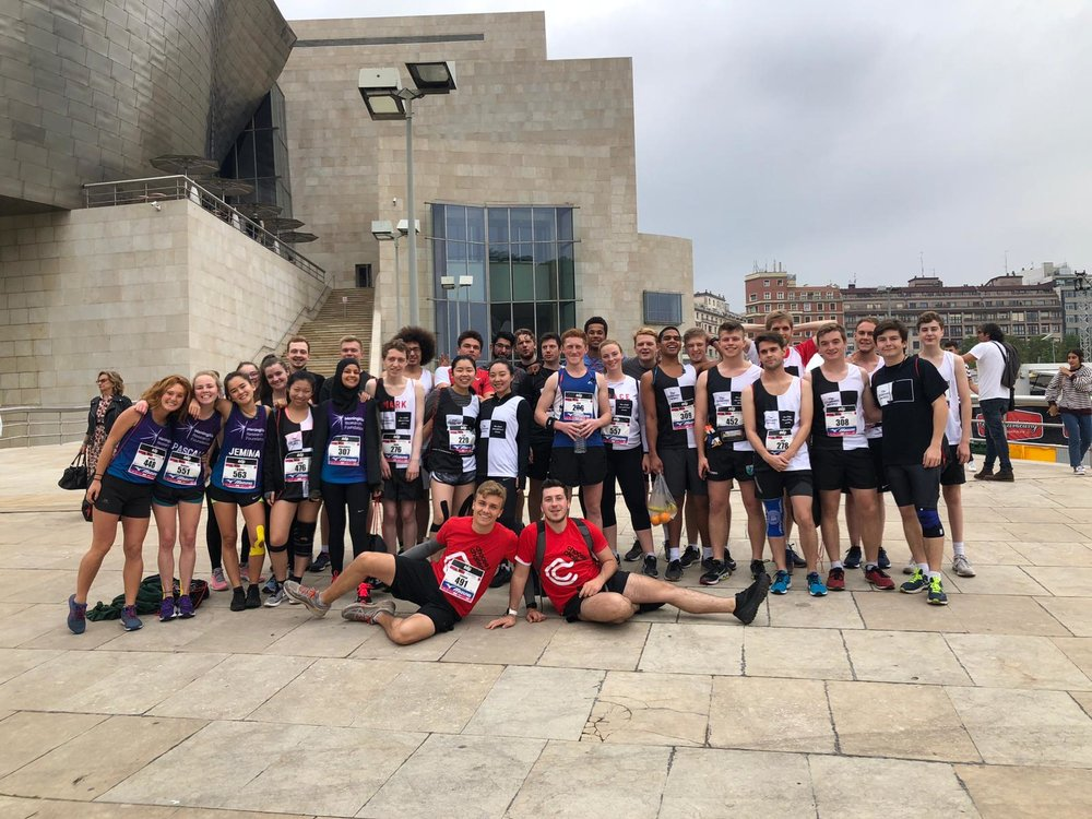 Bilbao Night Marathon team with Marathon Reps Connor Perkins and Pete Gilibrand