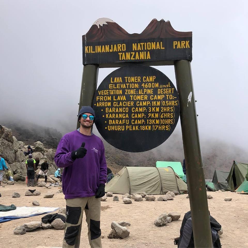 Callum at Lava Tower, Kilimanjaro