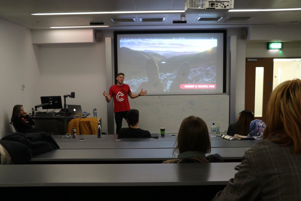 Scott smashing his Three Peaks presentation