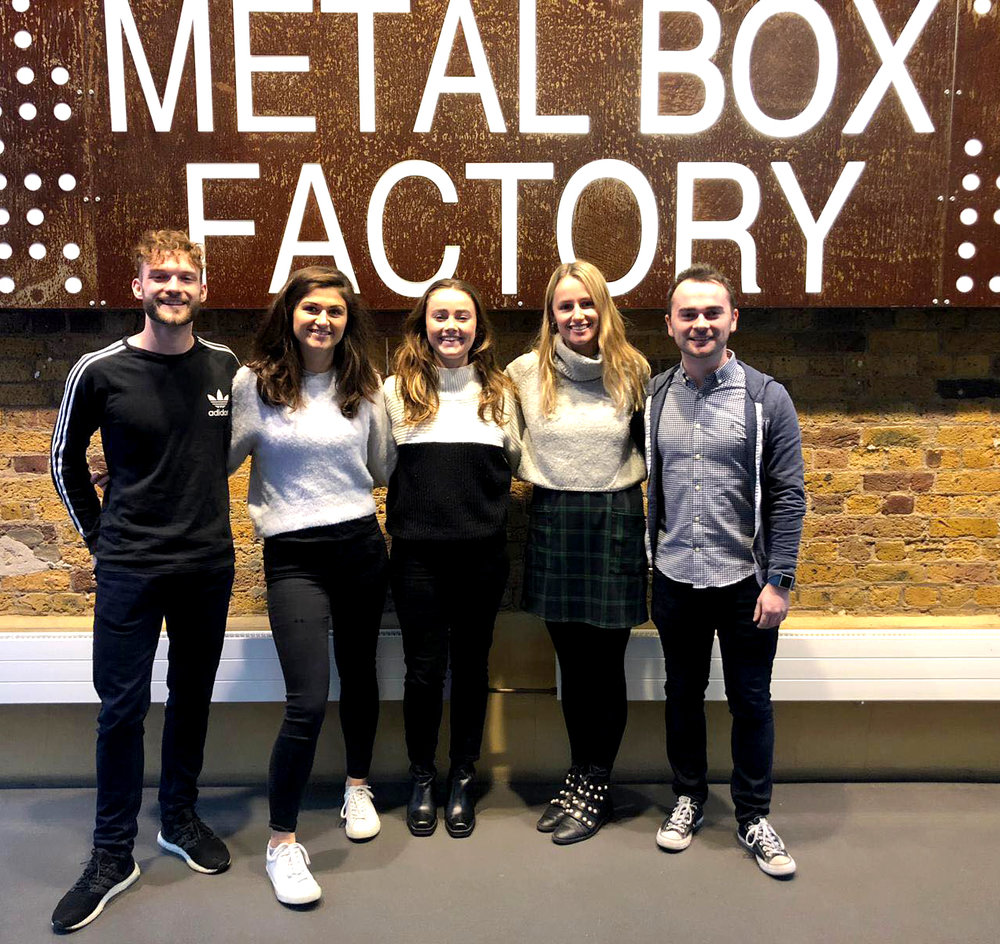 The team at the new office; Metal Box Factory, Southwark.