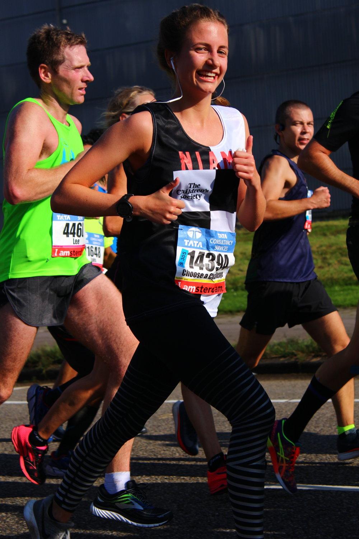 One of the Amsterdam Marathon team, Niamh