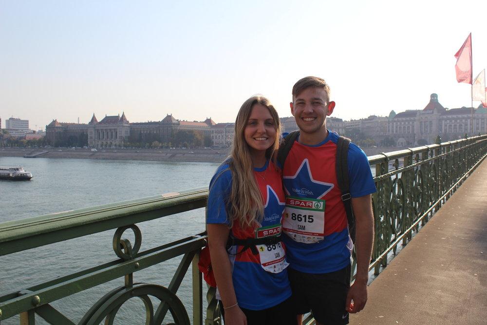 Two of the 2018 Budapest Marathon team