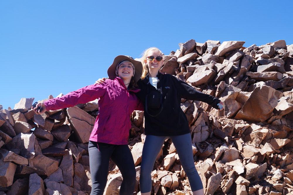 Girls in Atlas Mountains