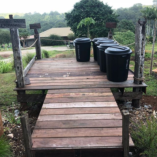Our organic a exchange platform ready for drop offs if source separated organic waste.