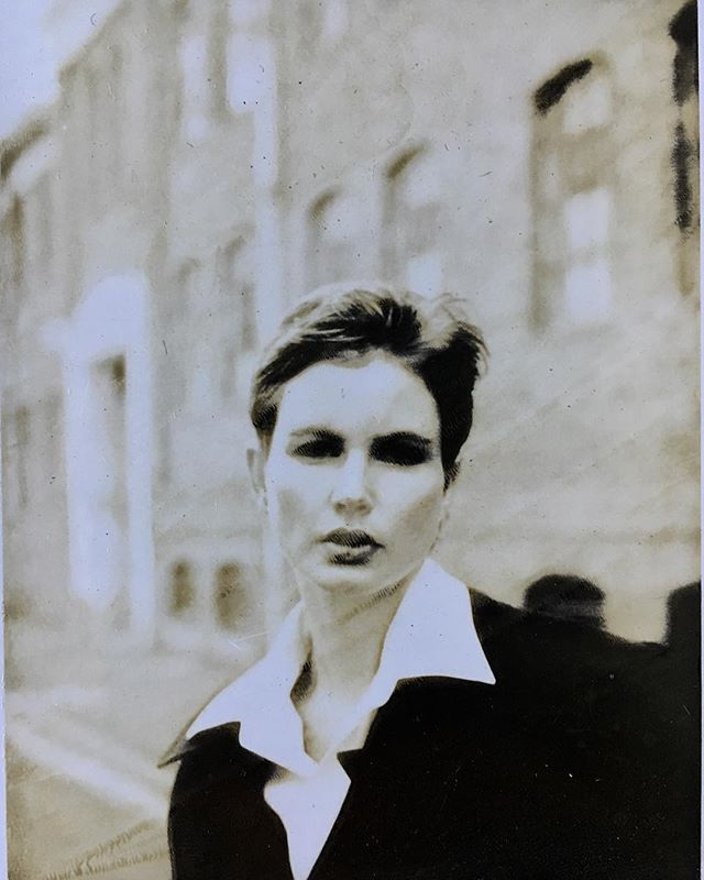Polaroid from test with Alexa Singer, early 90's