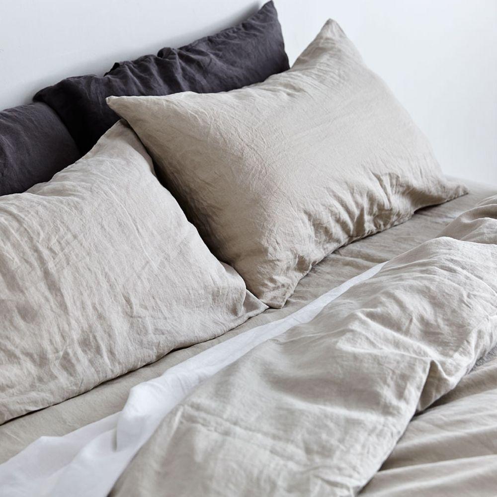In Bed Store Linen Duvet Cover in Dove Grey
