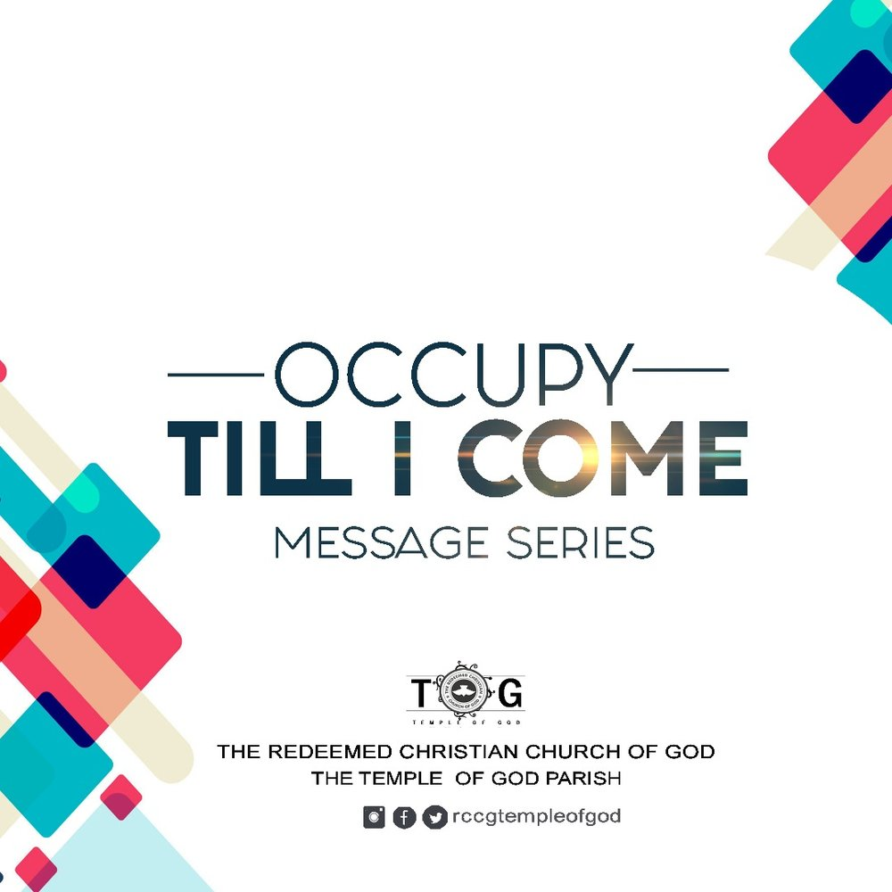 Occupy Till  I Come 2 - May 2018