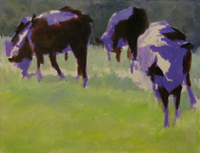 Setting the shadow colors of the cows