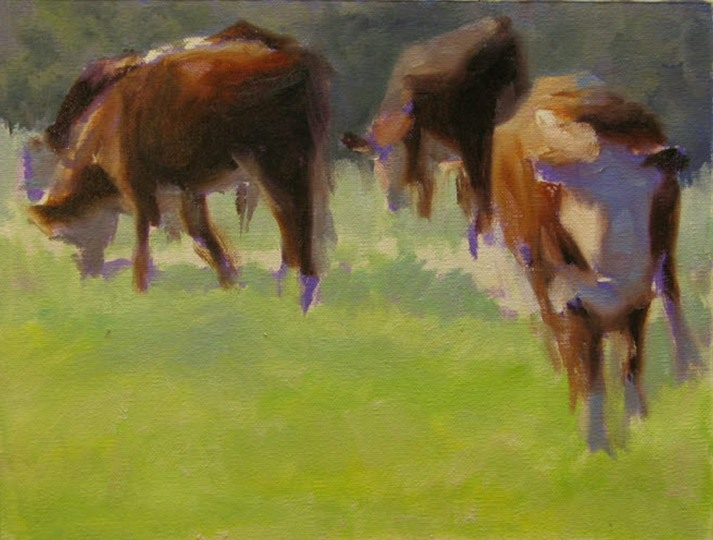 Setting the not in shadow color for the cows
