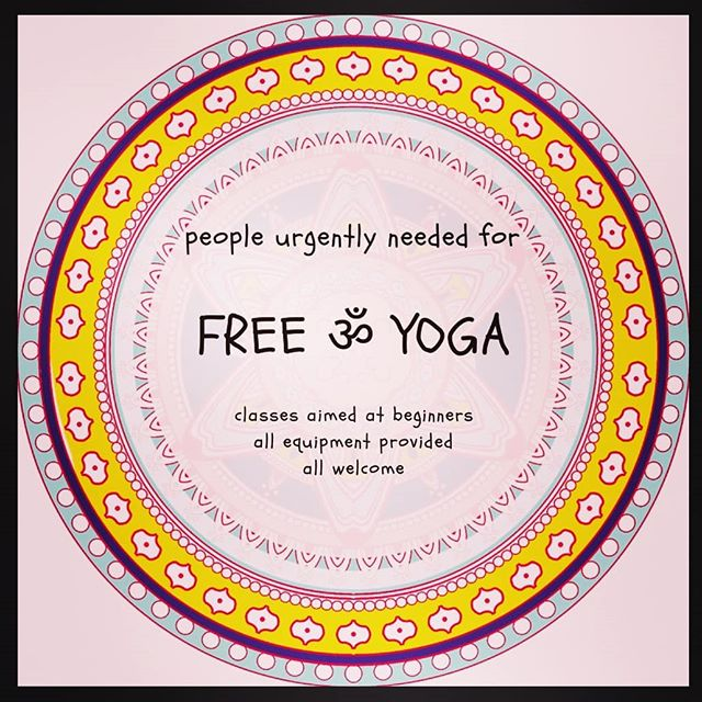 PEOPLE URGENTLY NEEDED FOR  F R E E  ॐ  Y O G A  My teacher trainees are being assessed this weekend. If you'd like a free yoga class, we still need to fill the following sessions: Sat 9-10am; 2.30-3.30pm Sun 10.30-11.30am  You're very welcome to attend more than one class if you are available.  These sessions are the final stage for our new teachers to become fully qualified, they are fully insured and have been training for over 2 years. Sessions are aimed at beginners and you can expect a classical hatha yoga class to replenish & relax.  Please contact me (Lucy Barlow) to book in to any sessions.  With love, Lucy x  And please feel free to share if you have friends who may be interested 🙏❤🙏 . . . #freeyoga #yogasouthsea #southseayoga #southseayogis #portsmouthyoga #southseafitfam