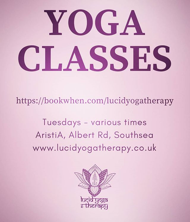 Classes now bookable, starting again from Tuesday 8th January...ॐ . . . #yogasouthsea #portsmouthyoga #southseayoga #southseayogis #portsmouthyogis #lucidyoga #lucidyogaandtherapy #yogaclass #senioryogateacher #yapSYT #yogaallianceprofessionals #yogateachertrainer