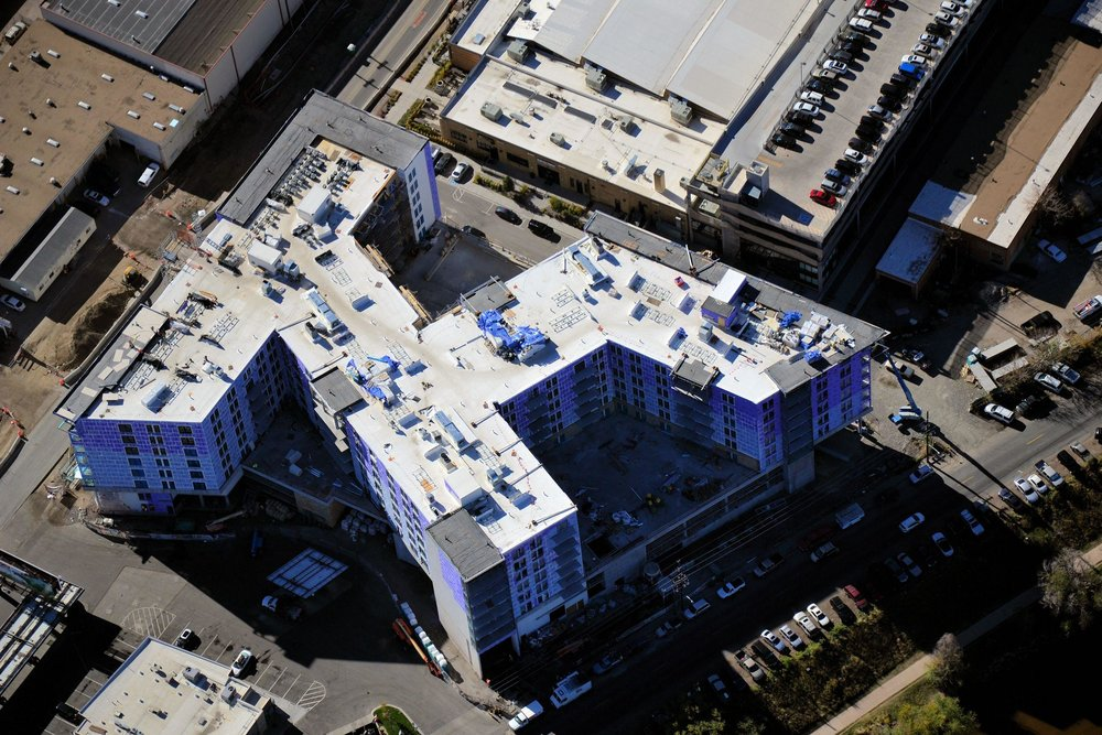 Aerial View of Industry Apartments, Denver, CO