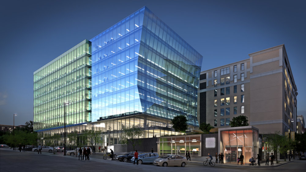 Rendering of street view, 25 W. Main, Madison, WI