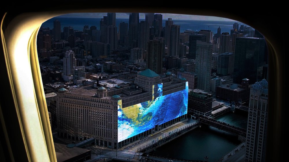 Conceptual rendering of projection, by Obscura Digital