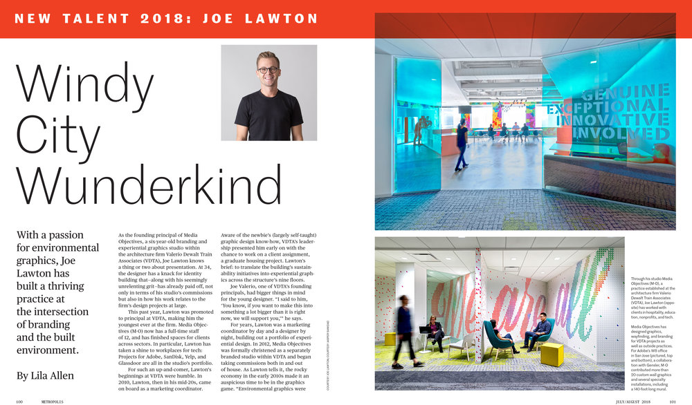 Joe Lawton and Media Objectives featured in Metropolis Magazine