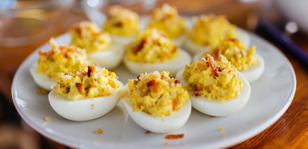 Gourmet Bacon Devilled Eggs