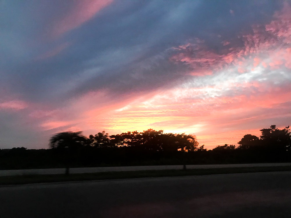Amazing sunset we saw on our drive back to Havana