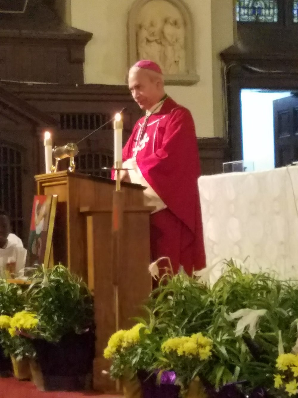 Bishop John Ricard retired Bishop of Pensacola-Talahassee, and former urban vicar of Baltimore