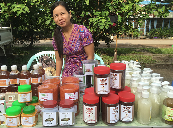 Beauty supplies from micro-entrepreneurs at the Hpa-An Market in Myanmar.