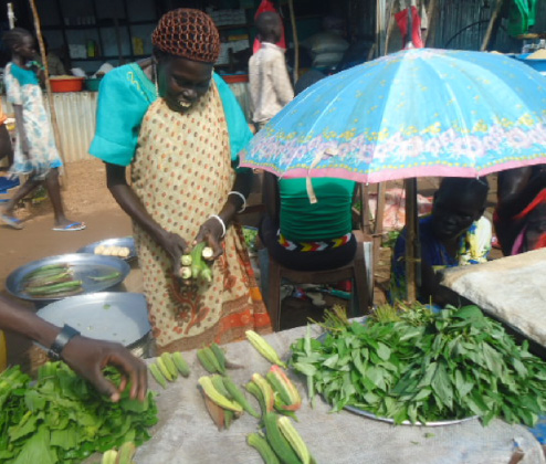 vegetable stall in South Sudan