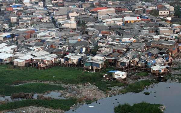 Slum community in Jakarta, Indonesia