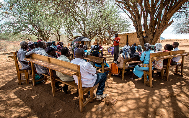 During a Savings Group Meeting in Kenya