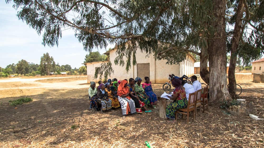 Community savings group meets in Isopilo, Tanzania