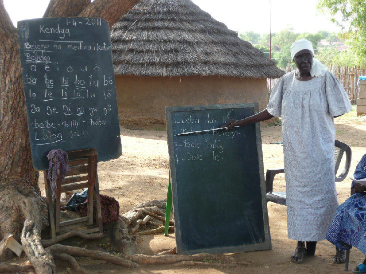 During a literacy training in South Sudan