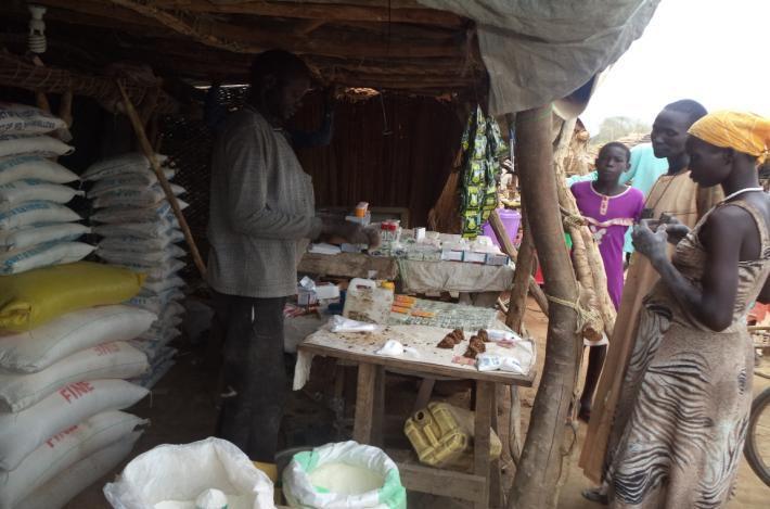 Customers visit South Sudan Shop
