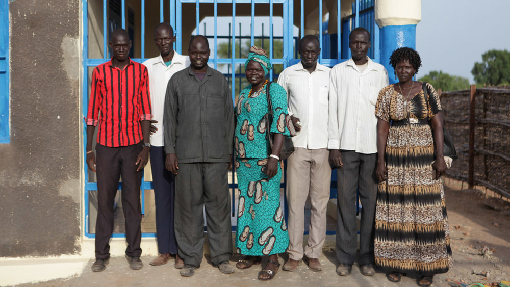 Above: Directors of the South Sudan Community Bank in Kuajok.